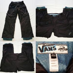 Mens Vans Ski Snow Pants black multiple pockets M